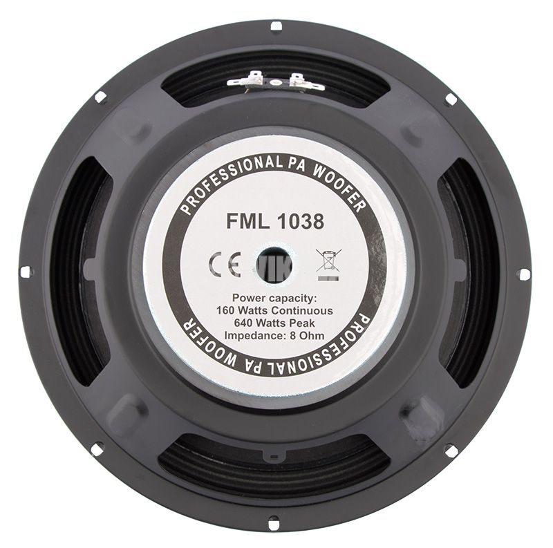 "Low Frequency Speaker, FML-1038, 160W, 8Ohm, 10"" - 2"