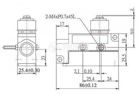 Limit Switch MJ1-611 MJ1-611, SPDT-NO+NC, 15A/480VAC, pusher - 2