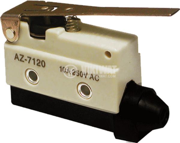 Краен изключвател, AZ-7120, SPDT-NO+NC, 10A/240VAC, лост - 1