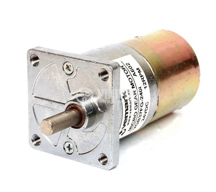 Електродвигател, постояннотоков, с редуктор, 24VDC, 12rpm, VGB37FG-240i - 1