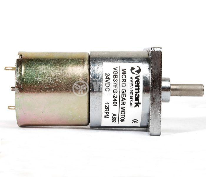 Електродвигател, постояннотоков, с редуктор, 24VDC, 12rpm, VGB37FG-240i - 3