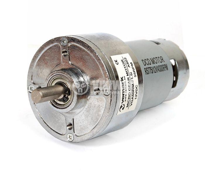 DC Motor Reducer, 12VDC, 55rpm, VGA60RH-71.5i - 1