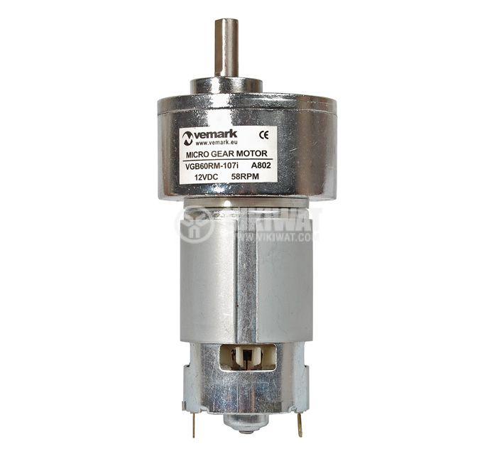 DC Motor Reducer, 12VDC, 58rpm, VGB60RM-107i - 3