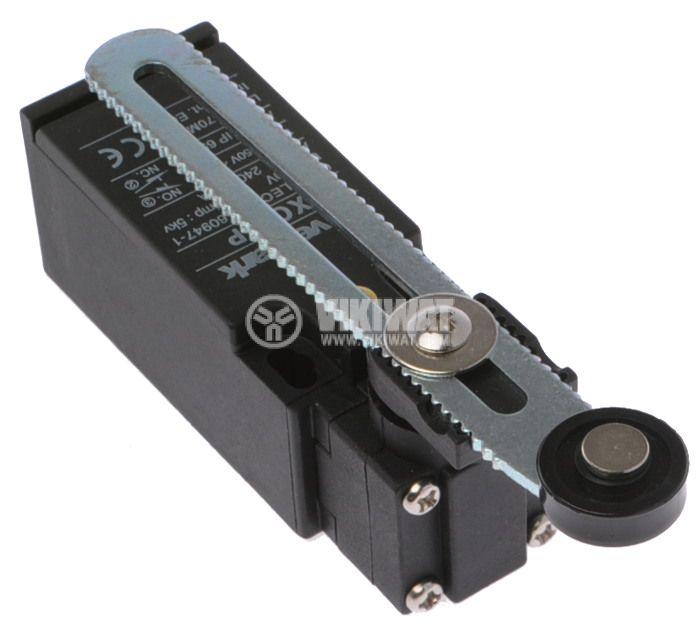 Краен изключвател, XCK-P, 2PST-NO+NC, 10A/240VAC, регулируемо рамо с ролка - 2