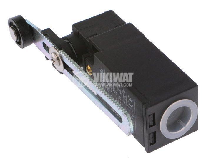 Краен изключвател, XCK-P, 2PST-NO+NC, 10A/240VAC, регулируемо рамо с ролка - 3