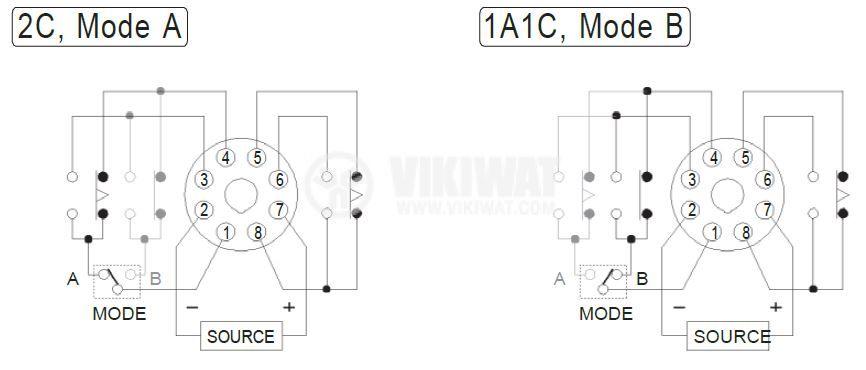 Analogue Time Relay AH3-2D, 230 VAC, 2NO +2 NC - 2