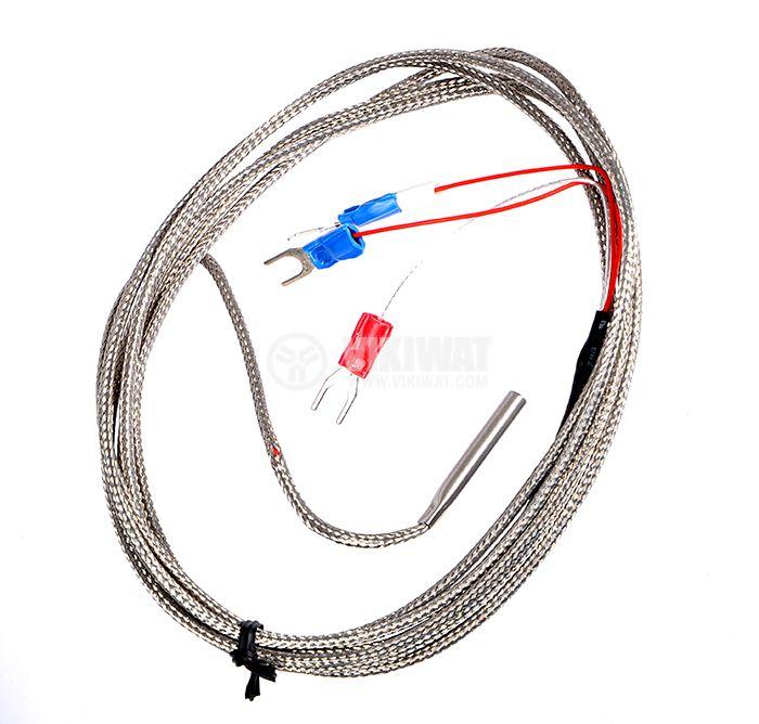 Терморезистор тип Pt100, TUBE 0°C -200°C, Ф4 mm, дължина 30mm