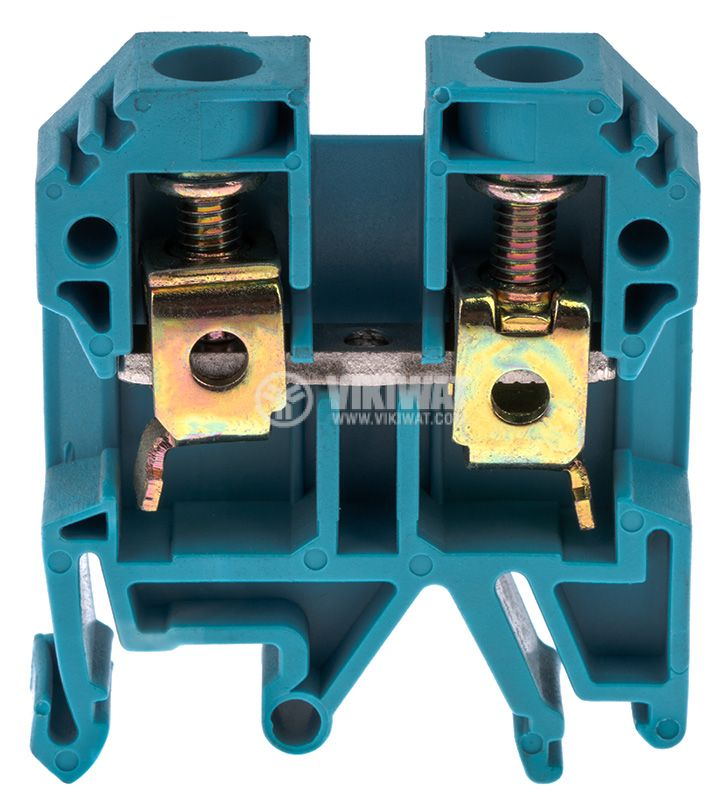 Terminal block JXB-10/35 10mm2, 57A, 800V, blue, plastic - 1