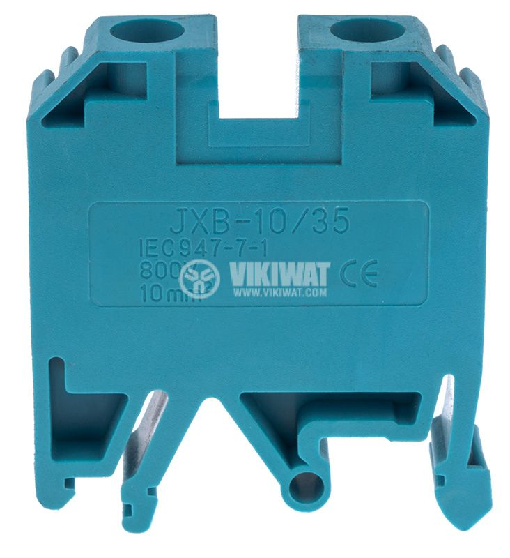 Terminal block JXB-10/35 10mm2, 57A, 800V, blue, plastic - 2