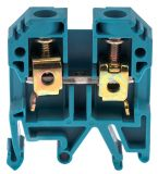 Редова клема JXB-10/35, едноредова, 10mm2, 57A, 800V, синя