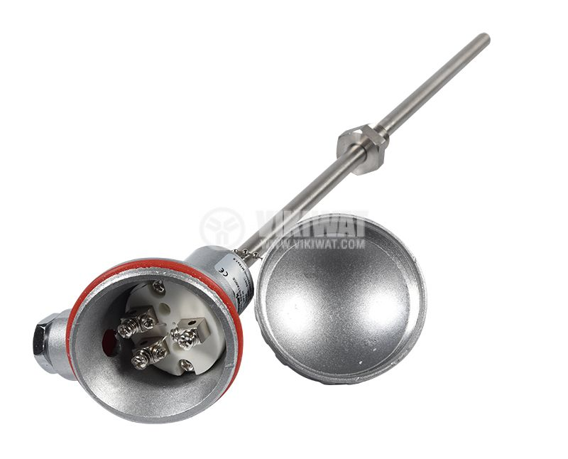 Терморезистор тип Pt100 VPT-H 0°C -500°C Ф10mm дължина 200mm - 4