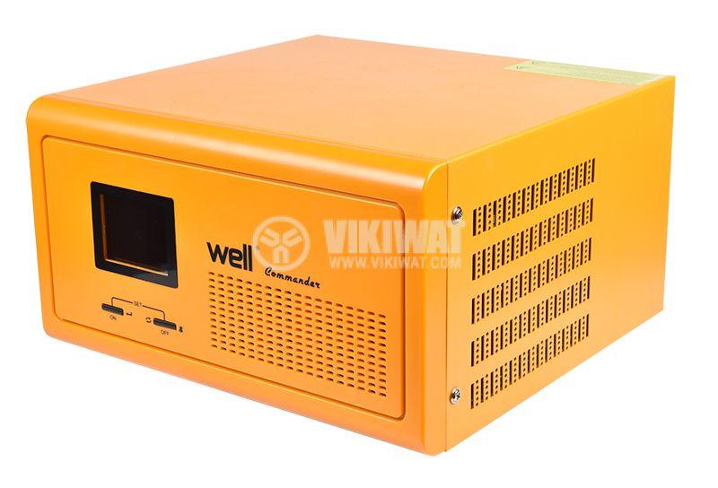 Аварийно захранване UPS, 12VDC-220VAC, 600W, истинска синусоида - 2