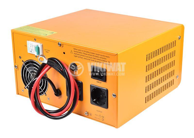 Аварийно захранване UPS, 12VDC-220VAC, 600W, истинска синусоида - 3