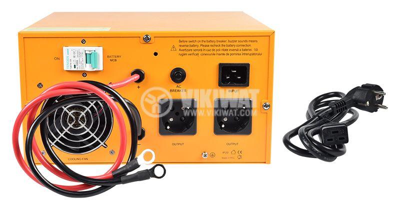 Аварийно захранване UPS, 12VDC-220VAC, 600W, истинска синусоида - 4