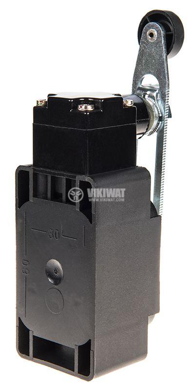 Краен изключвател XCK-S141, SPDT-NO+NC, 10A/250VAC, регулируемо рамо с ролка - 3