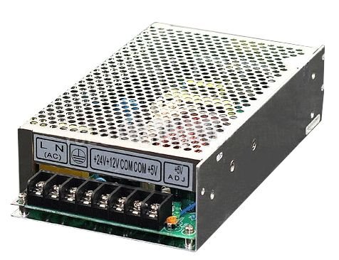 Triple output switching power supply 24VDC/1A, 12VDC/1A, 5VDC/3A, 50W, IP20, VT-50