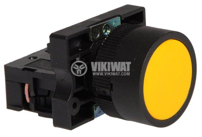 Бутон LAY5-ЕА51 400VAC/10A SPST - NО жълт - 2