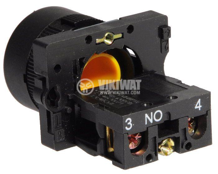 Бутон LAY5-ЕА51 400VAC/10A SPST - NО жълт - 3