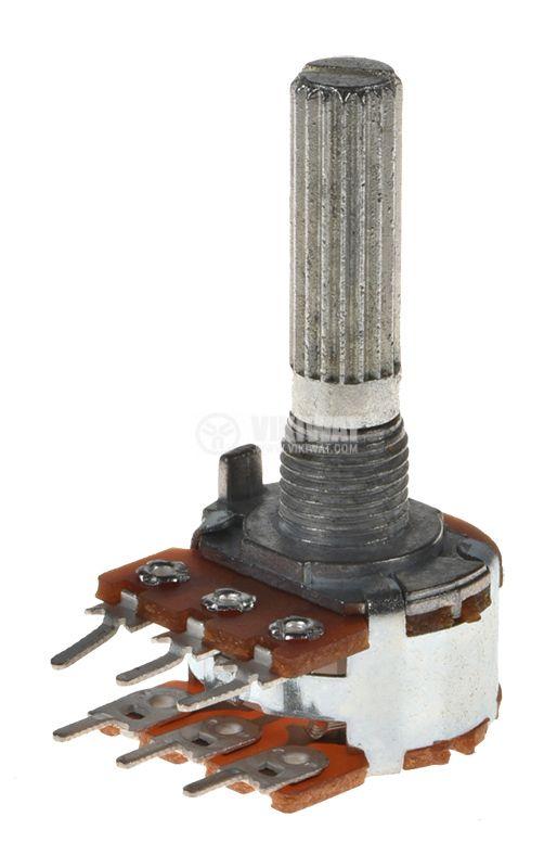 Potentiometer Linear Tape 20kOhm, Stereo, Carbon - 1