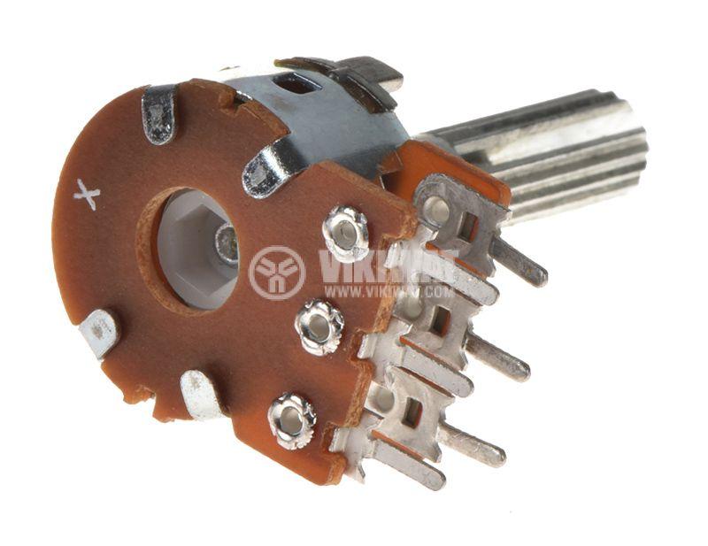 Potentiometer Linear Tape 20kOhm, Stereo, Carbon - 2