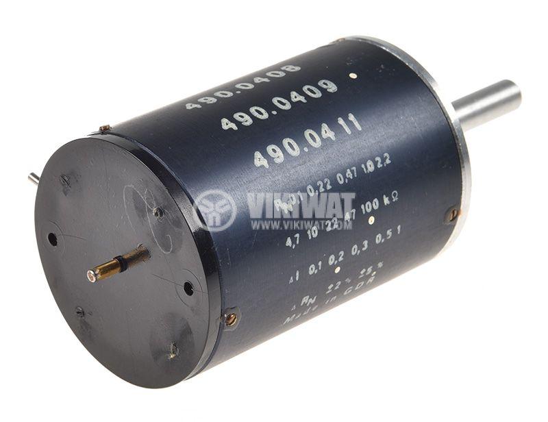 Потенциометър линеен моно жичен 100kOhm 2W - 3