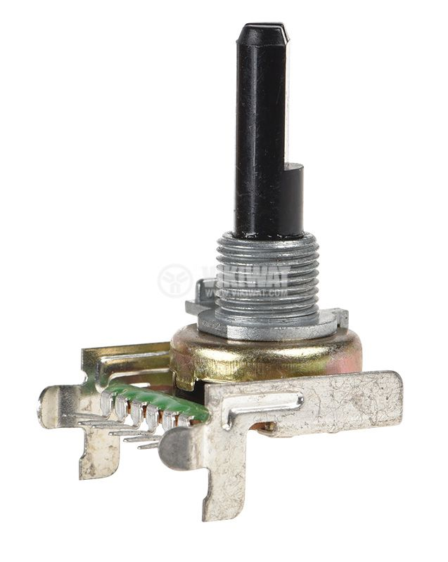 Potentiometer linear, 20kOhm, 0.125W, stereo, graphite - 1