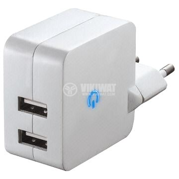 Powe adapter V0124, 5 VDC, 4.2 A, with 2 USB output - 2