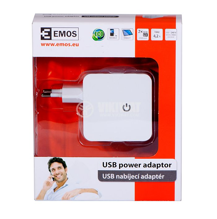 Powe adapter V0124, 5 VDC, 4.2 A, with 2 USB output - 4