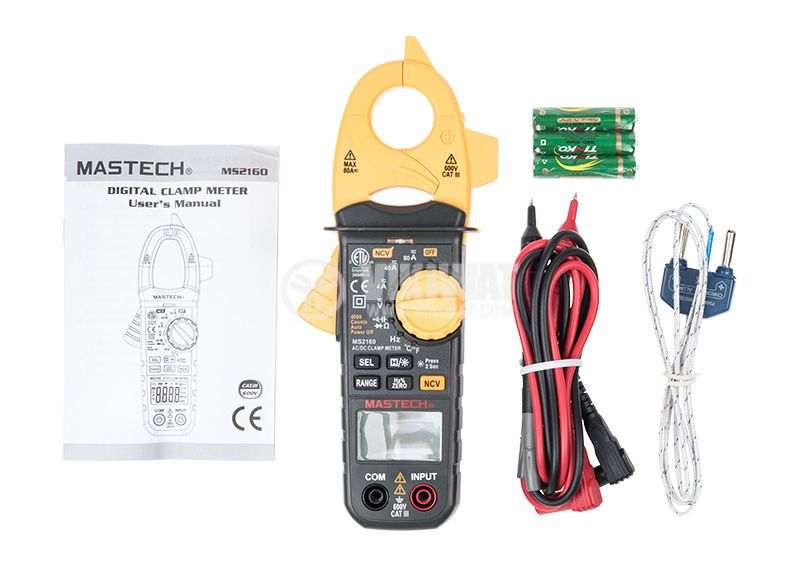 Clamp AC Meter MS2160, LCD (4000), ф40mm, Vac, Vdc, Aac, Ohm, F, Hz - 3