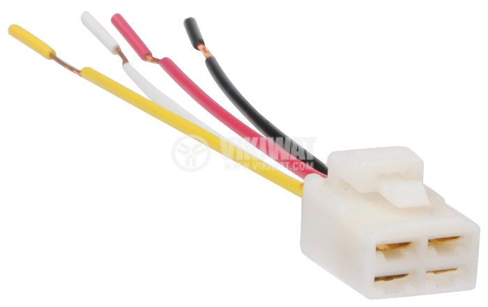 Relay Socket AS401, 12 VDC, 10 A, 4pin, with wires