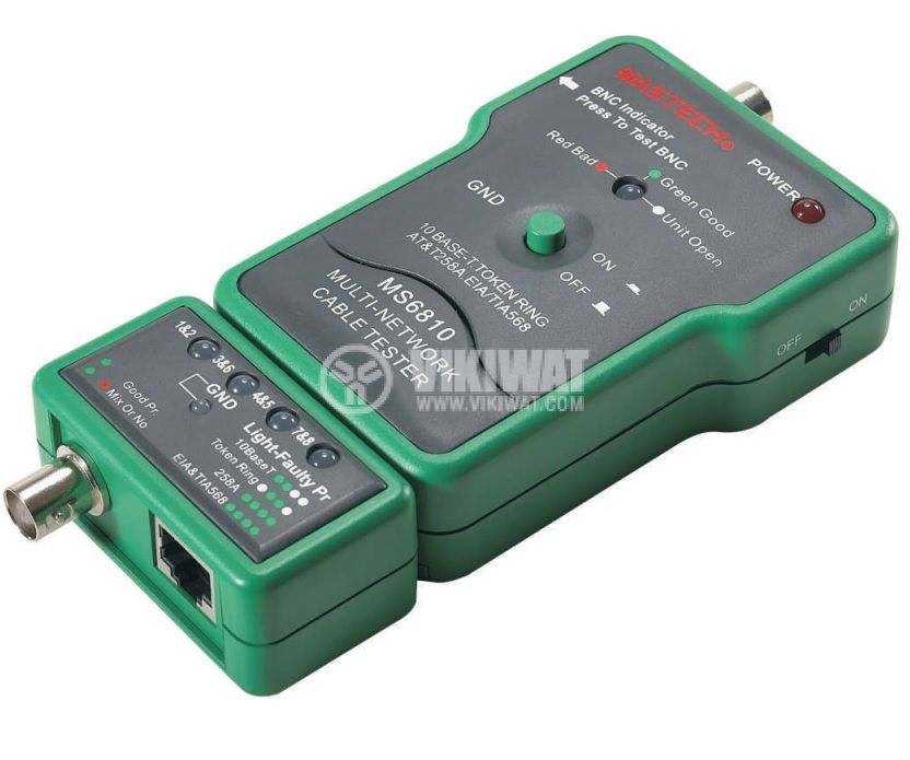 Network Cable Tester MS6810, BNC, UTP, STP - 2
