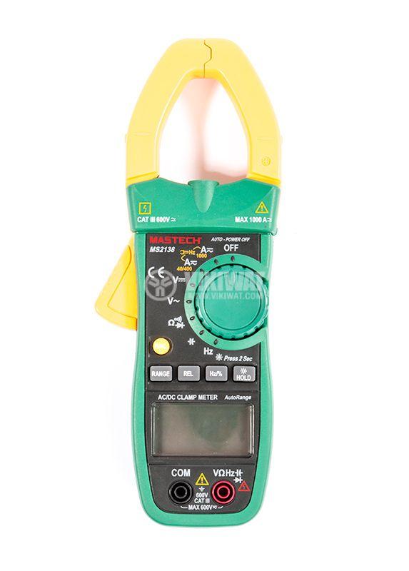 MS2138 - Амперклещи, LCD (4000), Φ40mm, Vac, Vdc, Aac, Adc, Ohm, капацитет, MASTECH - 2