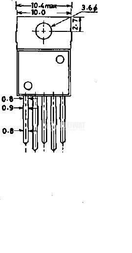 Интегрална схема 78MR12 ; Линеен стабилизатор на напрежение; 12V/500mA; 5-pin - 2