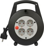 Extension reel, Brennenstuhl, Vario Line, 4-way, 5m, 3x1.5mm2, black, 1092200