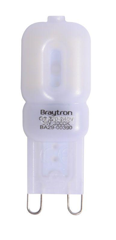 LED bulb 3W, G9220VAC, 3000K, warm white, BA29-00390 - 1