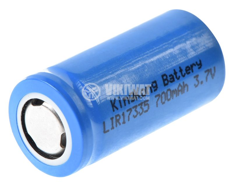 Rechargeable battery 3.7VDC, LIR17335, 700mAh, Li-Ion - 2