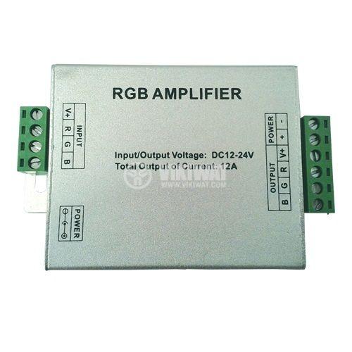 Усилвател за RGB LED лента BY09-0100, 12-24VDC, 12A, 144W, IP20