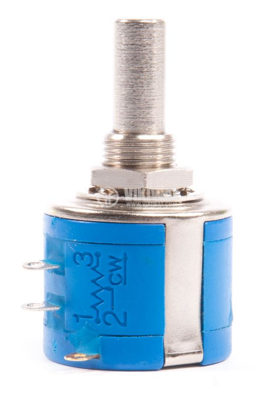 Potentiometer, axial, multi-turn, 10k Ohm, 2W, 6,35mm - 1