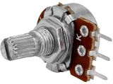 Потенциометър аксиален 1kOhm, линеен, моновъглероден, набраздена