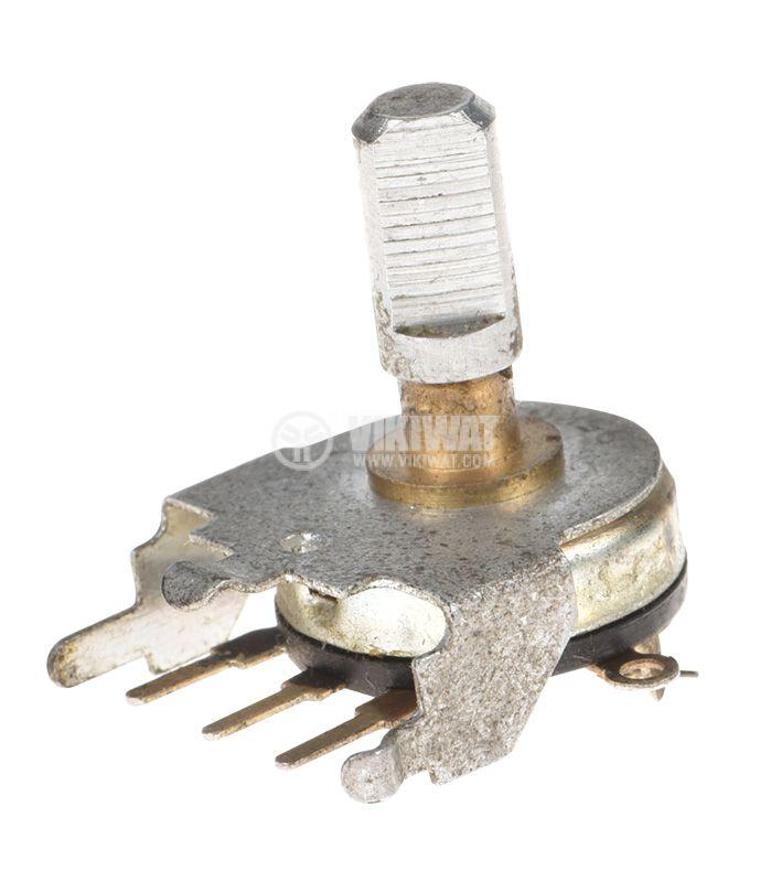 Потенциометър ротационен, с ключ, антилогаритмичен, моно, 5kOhm - 1