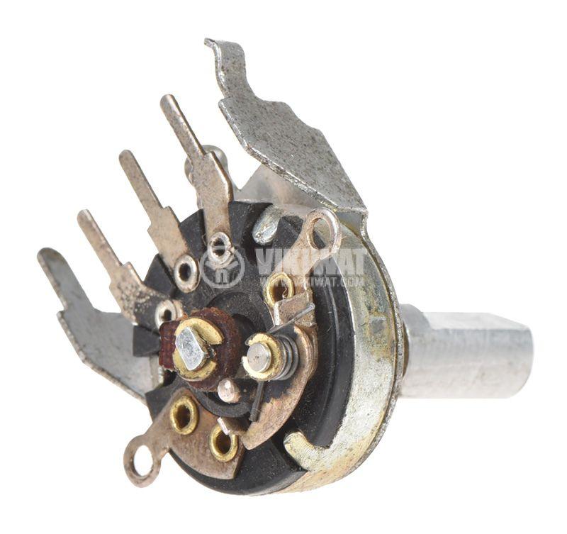 Потенциометър ротационен, с ключ, антилогаритмичен, моно, 5kOhm - 2