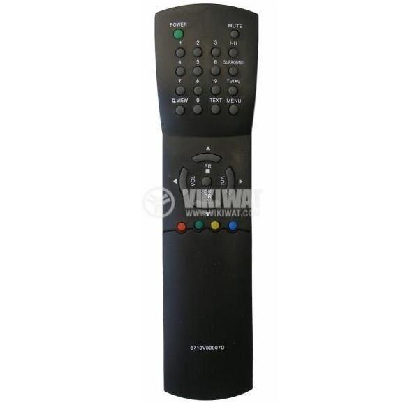 Remote control, LG 6710V00007A/D