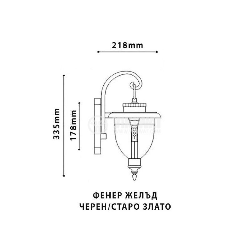 Garden lighting fixture Pacific Acron, E27, on wall - 2