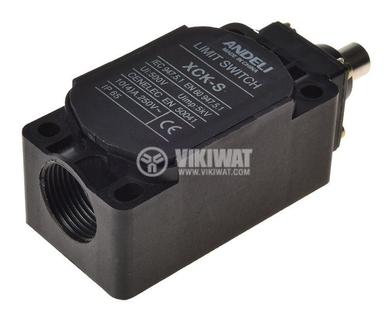 Краен изключвател, XCK-S101, SPDT-NO+NC, 10A/400VAC, щифт - 2