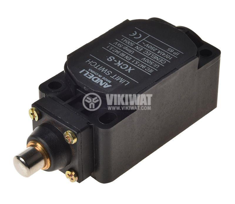 Краен изключвател, XCK-S101, SPDT-NO+NC, 10A/400VAC, щифт - 3