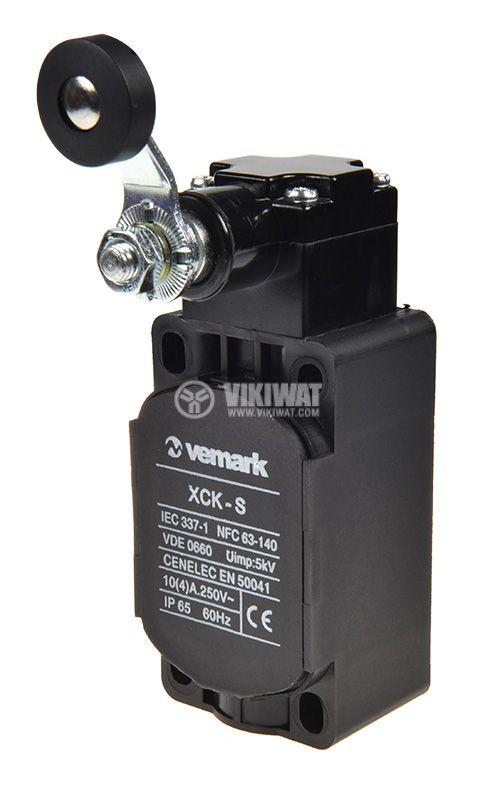 Краен изключвател XCK-S131, SPDT-NO+NC, 10A/400VAC, рамо с ролка - 1