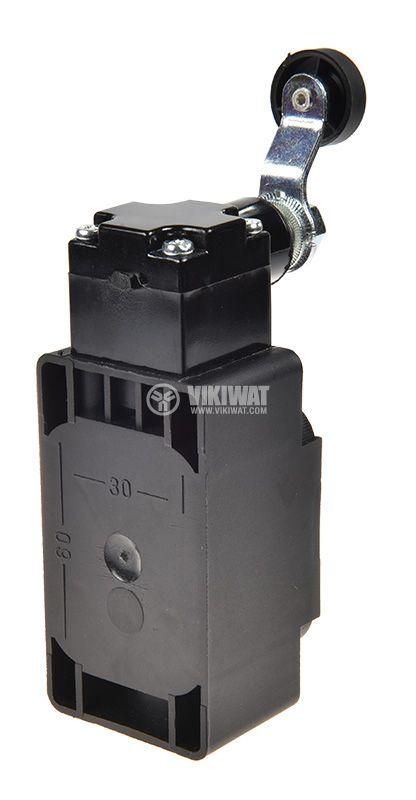 Краен изключвател XCK-S131, SPDT-NO+NC, 10A/400VAC, рамо с ролка - 2