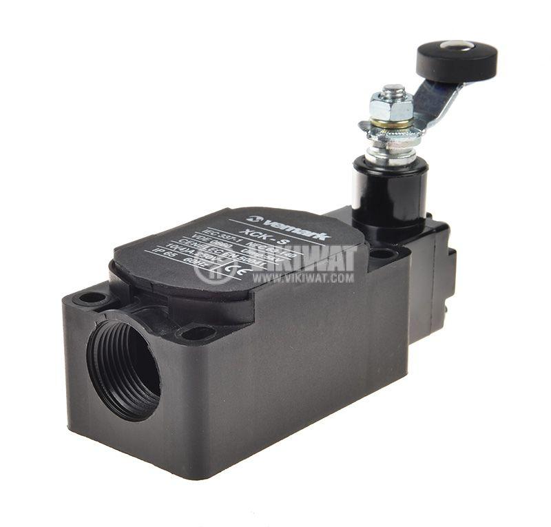 Краен изключвател XCK-S131, SPDT-NO+NC, 10A/400VAC, рамо с ролка - 3