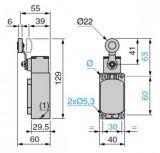 Краен изключвател, XCK-S131, SPDT-NO+NC, 10A/400VAC, рамо с ролка - 2