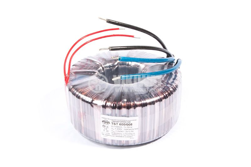 Тороидален трансформатор, INDEL TST 600/008, 2x24 VAC, 600 VA - 1
